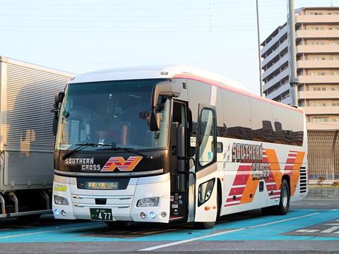 南海バス「サザンクロス」酒田線 ・477<br /> 草津パーキングエリアにて