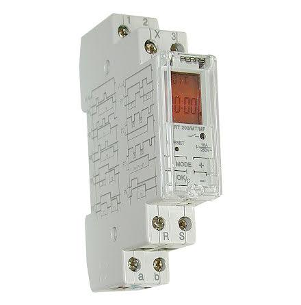 Tidrelä digitalt multifunktion, RT200, 1 modul, 14 funktioner, 11-253VAC/DC