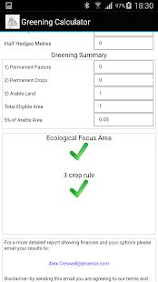 Greening Calculator - náhled