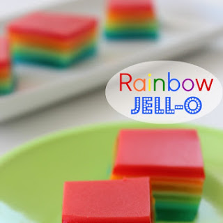 Rainbow Jell-O Bars