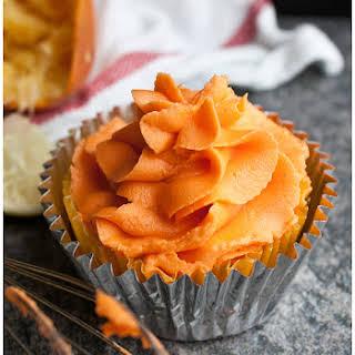 Easy Orange Buttercream Icing.