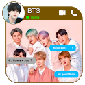 jimin bst Fake call : chat & live prank icon