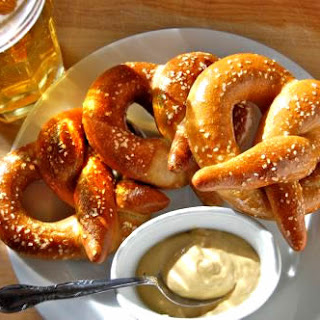 Pretzels with Honey Mustard Dipping Sauce.