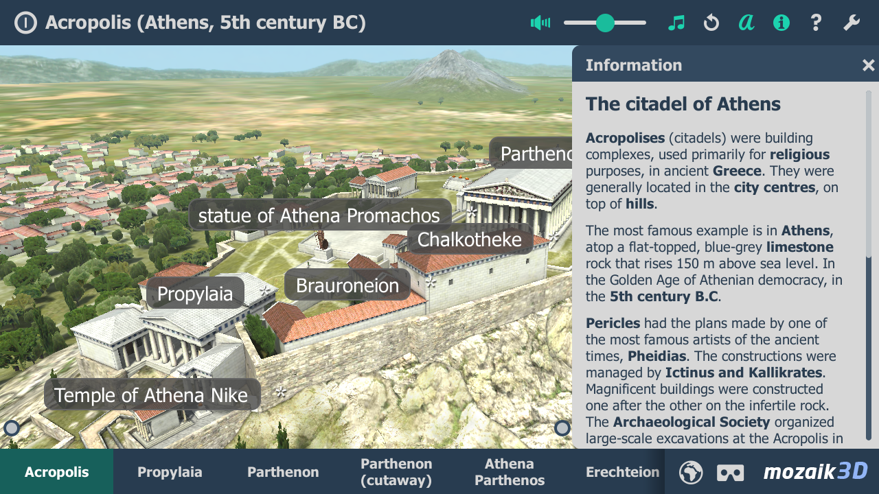 Acropolis interactive educational VR 3D- screenshot