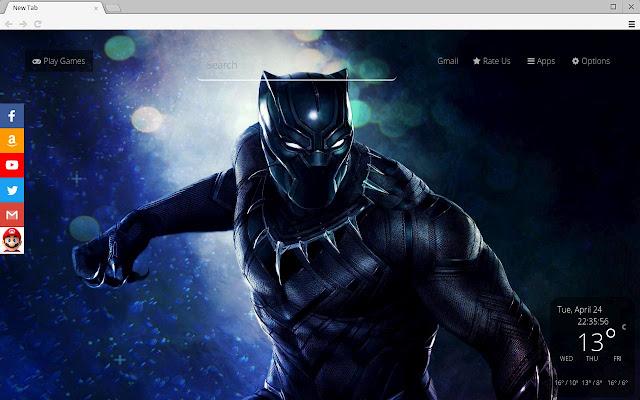 Black Panther Movie Theme HD & New Tab