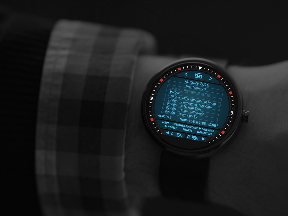 Faces for moto 360 - S02 Watchface For Moto 360 Screenshot