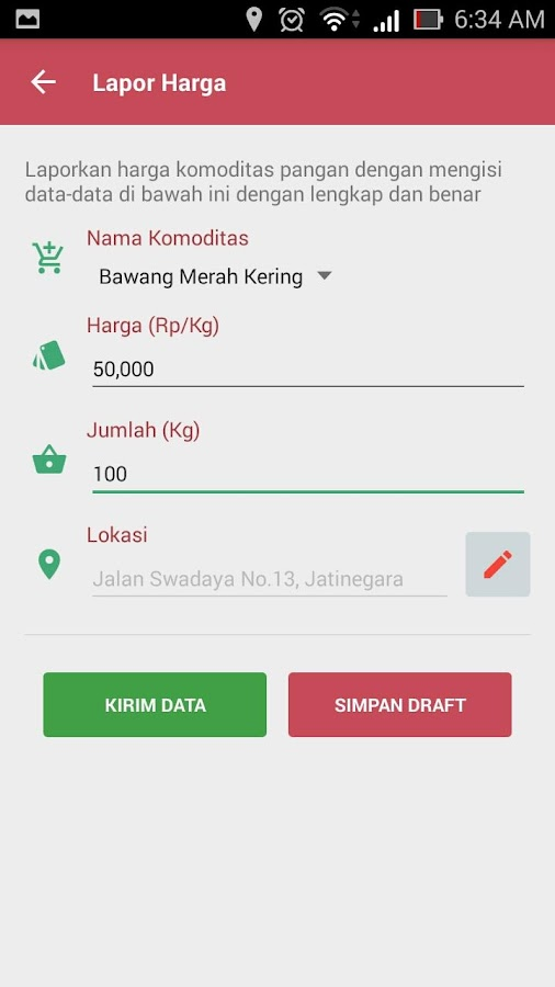Pantau Harga Mobile- screenshot