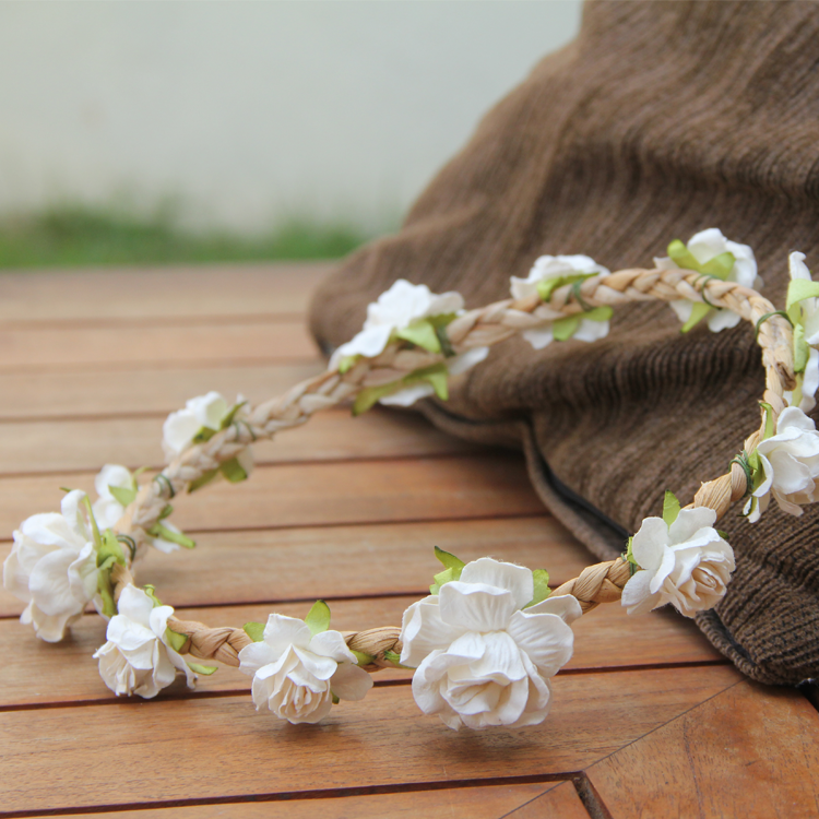 White Floral Crown by Style Me Pretty