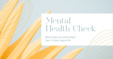 Mental Health Check - Facebook Event Cover template