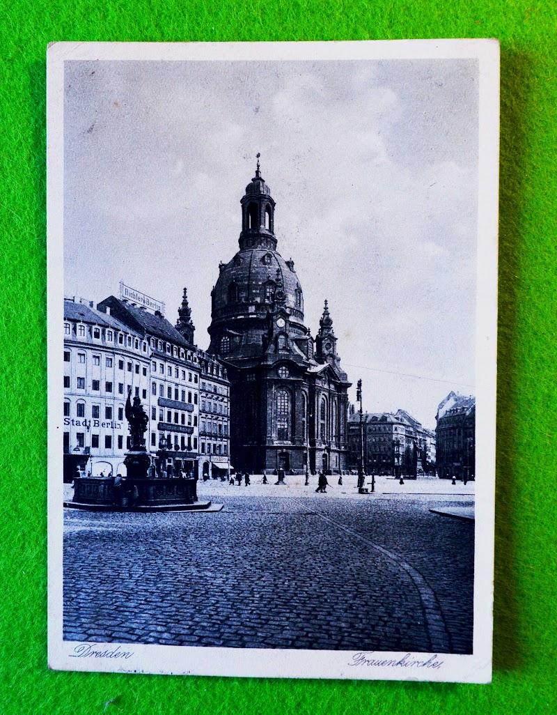 Postkarte von der Frauenkirche Dresden, 3.11.1928