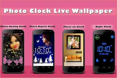 Photo Clock Live Wallpaper 9