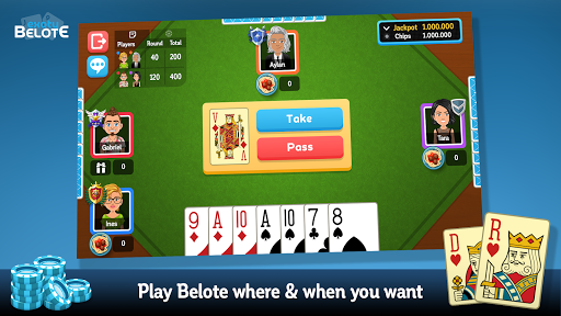 Multiplayer Belote & Coinche android2mod screenshots 1