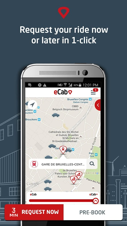 eCab, the new taxi experience- screenshot