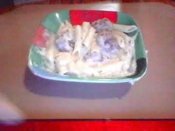 Funyun Onion Meat Balls & Alfredo Onion Sauce