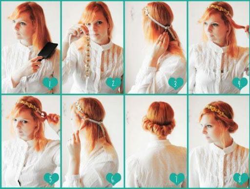 DIY髮型教程...