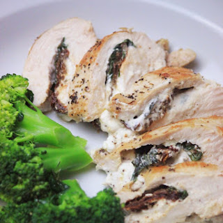 Stuffed Chicken Breast with Basil, Goat & Sun-Dried Tomatoes