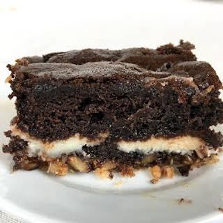 Chocolate Coconut Earthquake Cake.