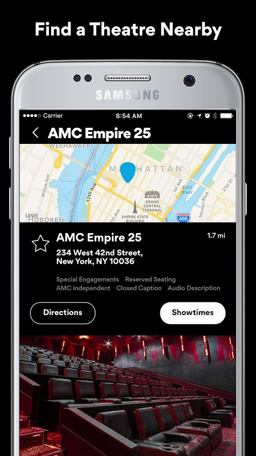 AMC Theatres- screenshot