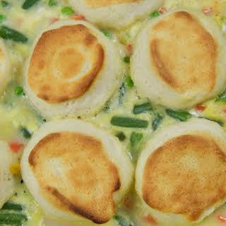 Biscuit Chicken Pot Pie Casserole.