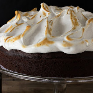 Guinness Chocolate Cake with Toasted Cloud Frosting