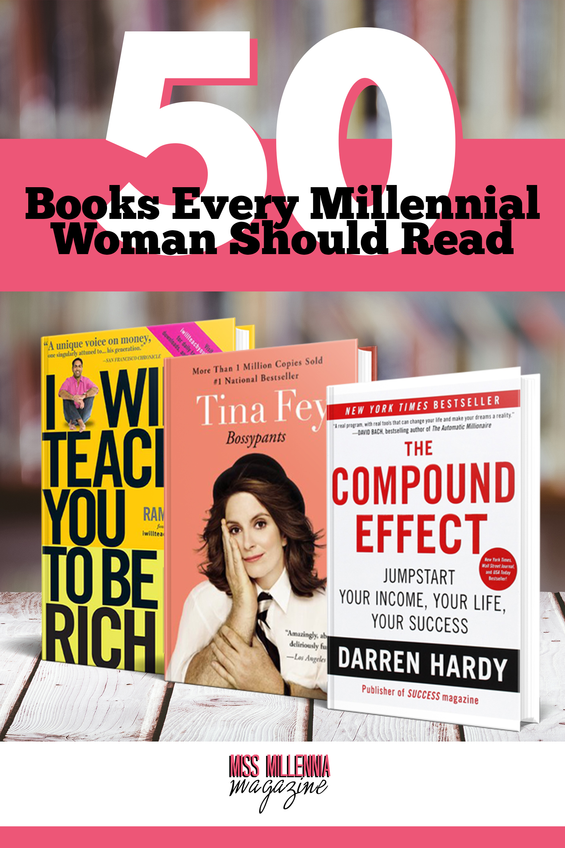 50 Books ALl Millennial Women Should Read