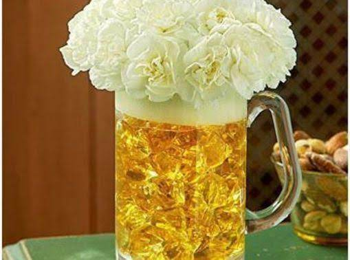 Diy:  Beer Mug Bouquet