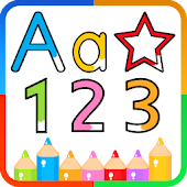 ABC and 123 Write Letters Numbers Geometry
