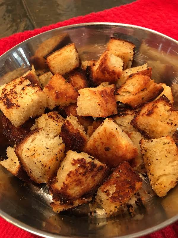 Golden Edged, Crispy Tender Croutons!