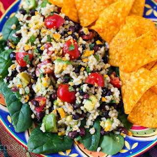 Spicy Brown Rice Black Bean Salad.