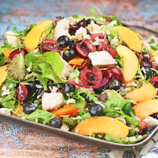 Chicken Salad with Blueberries, Cherries & Apricots.