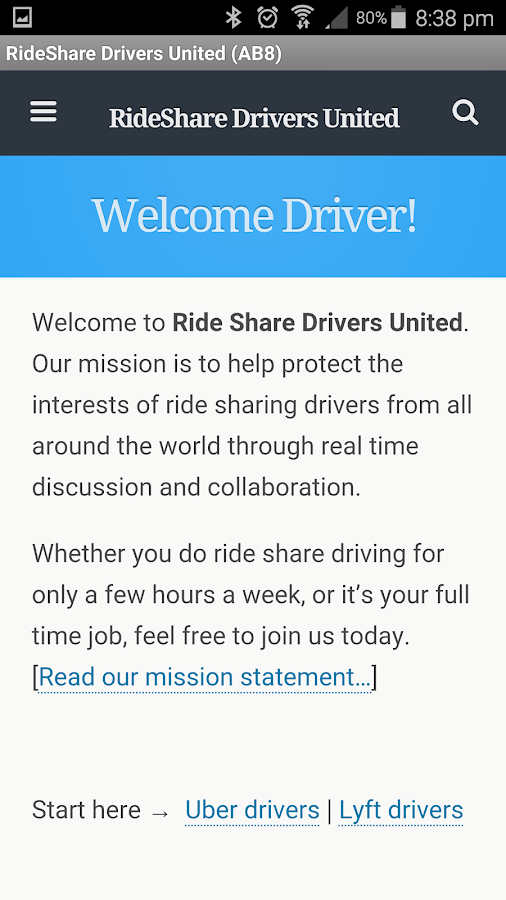 RideShare Drivers United RSDU- screenshot