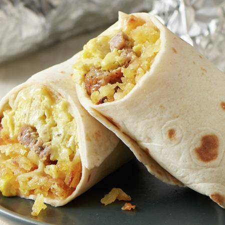 Avocado & Bacon Breakfast Burrito