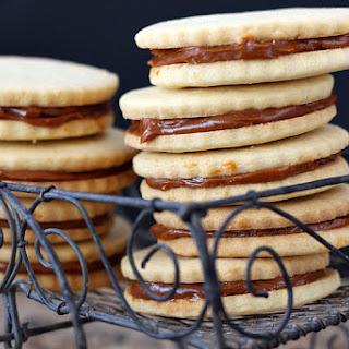 Alfajores – Dulce De Leche Sandwich Cookies.