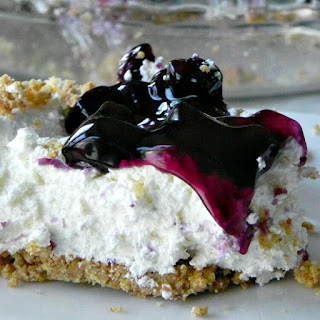 Easy No Bake Blueberry Cheesecake Pie