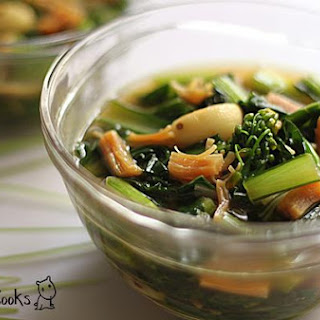 Choy Sum (Chinese Cabbage) With Dried Scallops.