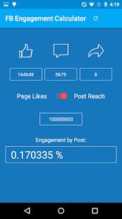 Social Engagement Calculator screenshot