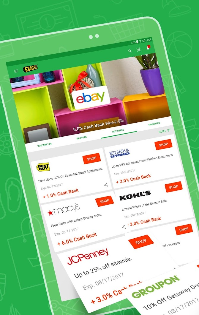 Ebates: Cash Back Rewards, Coupons & Promo Codes Android 6