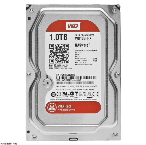 ổ cứng HDD WD Red 1TB Sata3 5400rpm (WD10EFRX)