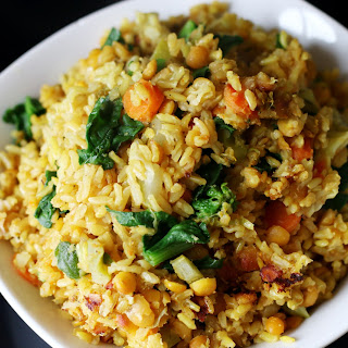 Healing Kitchari – Turmeric Spiced Brown Rice, Lentils, Veggies.