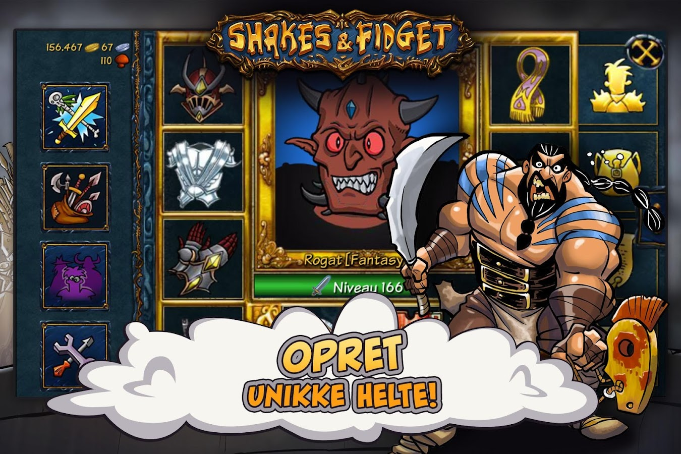 Shakes og Fidget – screenshot