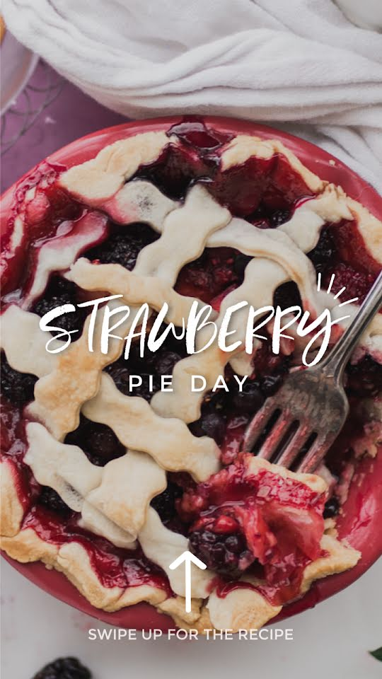 Strawberry Pie Day - Facebook Story Template