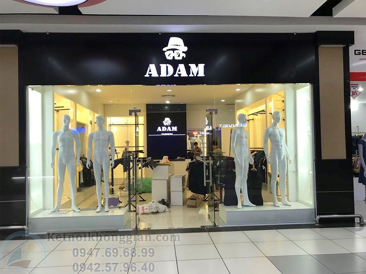 thi công shop thời trang nam nổi bật, ấn tượng