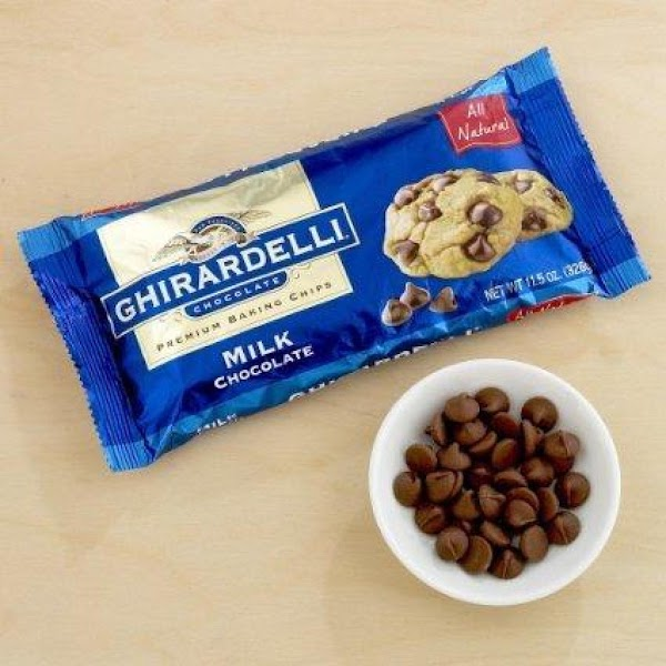 Melt 1/2 cup Ghirardilli Milk Chocolate Chips in microwave (depending on what brand you...