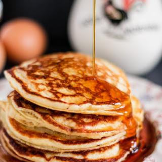 Gluten Free, Protein-Packed Quinoa Flour Banana Pancakes.