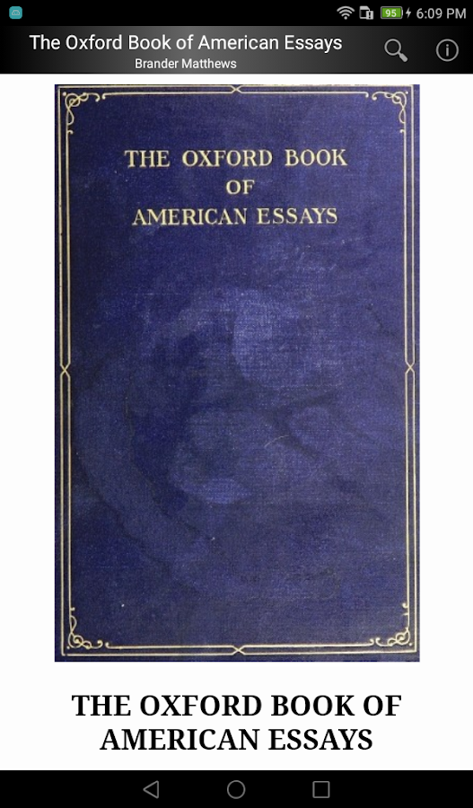 oxford book of essays The oxford book of american essays matthews brander works of charles dickens with the life dickens charles forster leura books works of charles.