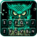 Angry Owl Art Keyboard Theme icon
