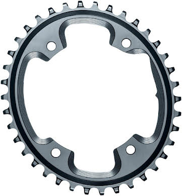 Absolute Black Oval N/W CX Chainring - 4-Bolt x 110 bcd alternate image 0