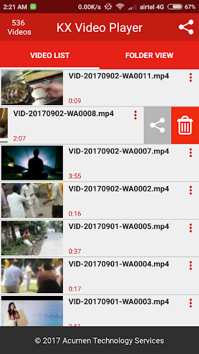 KX Video Player - Full HD Video Player 1.7.0 screenshots 5