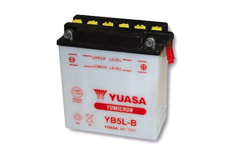 YUASA MC-batteri YB 5L-B utan syrapack