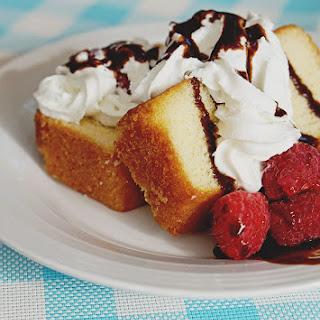 Raspberry Pound Cake Dessert